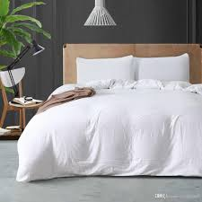 simple style 2018 polyester cotton hotel duvet cover set twin queen king duvet covers home white bedding set duvet covers duvet sets on from