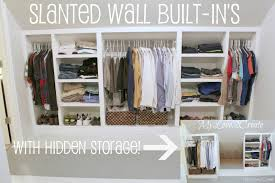 Slanted Wall built-ins, with Hidden Storage   My Love 2 Create