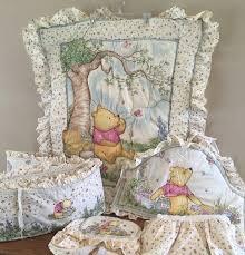 classic pooh crib bedding set
