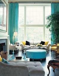 Color Curtains accordance with Samttisch Wohnideen - 50 modern curtains  ideas - practical design window