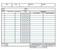 Football Score Sheet Printable Barca Fontanacountryinn Com