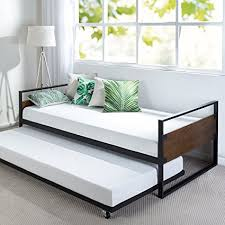 daybed with trundle. Interesting With Zinus Ironline Twin Daybed And Trundle Frame SetPremium Steel Slat Support For With O