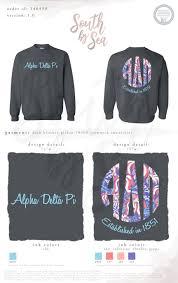 Alpha Delta Pi | ADPi | Script Design | Monogram Design | Hippie Monogram |  South by Sea | Greek Tee S… | Greek tee shirts, Sorority shirt designs,  Sorority outfits
