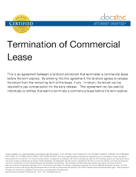 Business Lease Termination Letter The Letter Sample