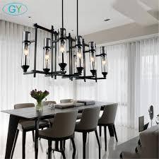Us 30485 9 Off110 V 220 V Amerikanischen Industrie Kunst Vintage Glas Kerze Kronleuchter Lampe Nordic Lustre Moderne Esszimmer Küche Restaurant