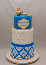 Blue Gold Baby Shower Cake Cake In Cup Ny
