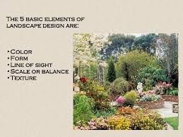 Landscape Design & Principles; 2.