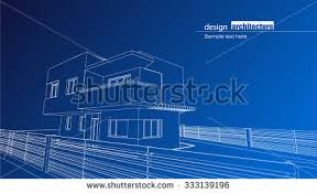 modern architecture blueprints. Architectural Blueprint Of The Residence House As Modern Design Architecture Blueprints