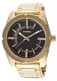 diesel good company gold tone steel black dial watch diesel good company gold watch
