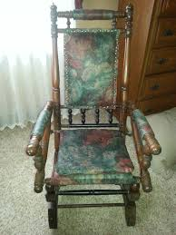 redid my mother s antique platform rocker think it turned out pretty nice
