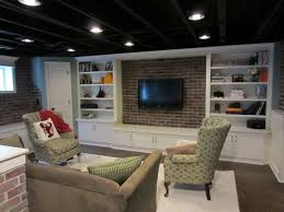 unfinished basement ceiling ideas. Interesting Unfinished Basement Fabric Ceiling Ideas Photo Decoration L