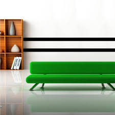 black simple stripes wall applique