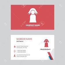 Teacher Business Card Design Template Modern Horizontal Identity