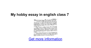 my hobby essay in english class google docs