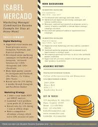 Sample Combination Resume Combination Resume Example For Stay At Home Mom