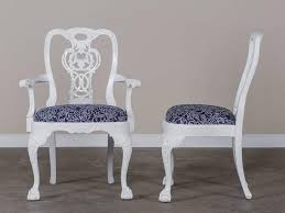 set eight george iii chippendale style painted dining chairs custom england 2