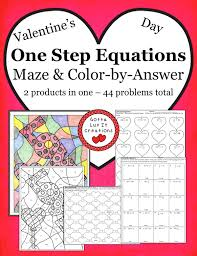 valentine s day two step equations 2 s in one two step equations valentine s day maze two step equations valentine s day color by answer 44