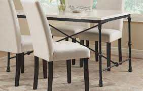 Industrial Kitchen Table Furniture Coaster Nagel Industrial Dining Table With Faux Marble Top By Oj