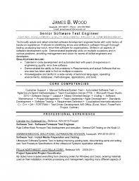 Test Engineer Resume Test Engineer Resume Sample Software Test Senior Test  Engineer Resume