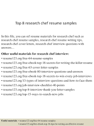 top 8 research chef resume samples 1 638jpgcb1437641755 chef resume objective