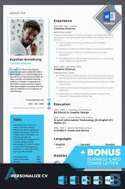 Krystian Armstrong Creative Director Website Templates Cv