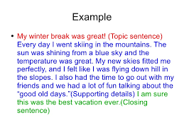 Introduction to topic sentences