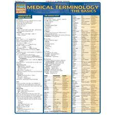 Quick Study Academic Charts Medical Terminology The Basics Quick Study Academic