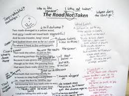 annotation mr murdock s literature page sample 1 the road not taken by robert frost