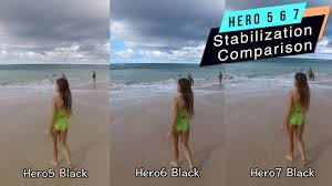 Gopro Hero 5 Comparison Chart Gopro Hero7 Hero6 Hero5 Stabilization Comparison Gopro Tip 627 Micbergsma