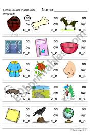 Vowel digraph oo, ou, ew, aw, ow phonics worksheets and teaching resources. Circle Sound Puzzle Phonics The Oa Esl Worksheet By Worksheets Frog Math Mathematical Division Fact Drills Grade Exam Practice Jaimie Bleck