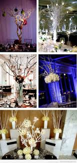 Branch Themed Wedding Decorations or Centerpieces