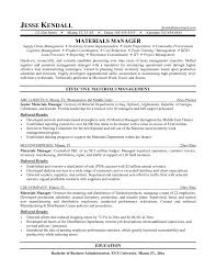 Material Management Resume Sample material management resume sample Enderrealtyparkco 1