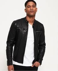 superdry leather jackets black mens real hero leather biker jacket black peynir oyun