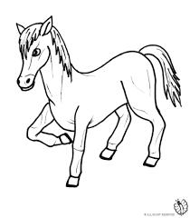 Disegno Di Pony Da Colorare Per Bambini Com Con Immagine Cavallo Da