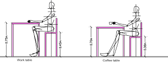 measurements ergonomics for table and chair dining table or desk