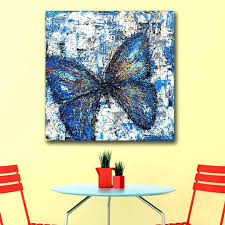 wall art canvas blue butterfly wall art oil painting pop realism blue butterfly wall decoration painted on ikea canada canvas wall art with wall art canvas blue butterfly wall art oil painting pop realism