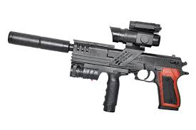 Super Bb Gun With Laser And Torch Light Toyshine 18 Inches Bb Gun Toy With Silencer Laser Torch