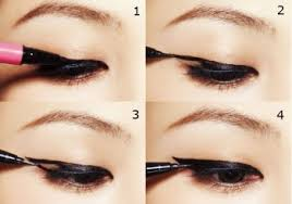 make the line along the lashes thick and the flick end thin and long a diffe twist to the cat eye