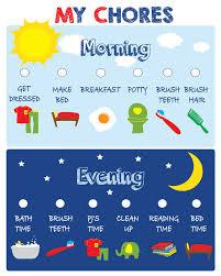 Kids Chore Chart Printable Positive Behavior Chart Star