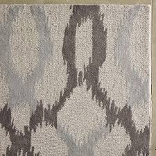 fine wool kitchen rugs regarding impressive ikat rug with links frost gray west