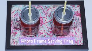 how to make a diy serving tray using photo frame at home