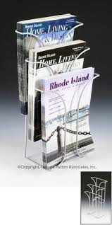 Lucite Stands For Display 100Tiered Literature Holder For Tabletops Fits 100100 X 100 Magazines 83