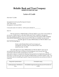letter of credit sample 5