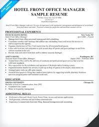 resume front desk manager resume hotel office travel assistant sample