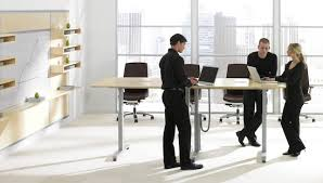 standing office table. Standing Meetings Are Shorter (adjustable Height Tables) Office Table