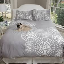 white grey and black lily with leaf applique king size duvet cover inside duvet covers california king plan