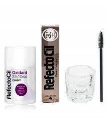 Refectocil Cream Hair Dye Light Brown 5oz Refectocil Kit Cream Hair Dye Creme Oxidant 3 3 4oz Mixing Dish Mascara Brush Light Brown