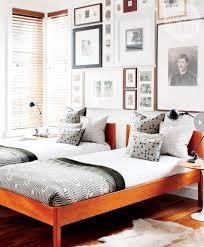 artsy mid century bedroom