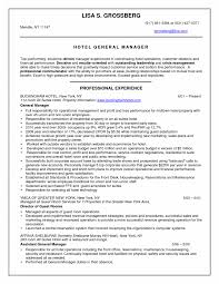 Delighted Best Resume Hospitality Industry Pictures Inspiration