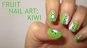 Fruit Nail Art - Kiwi fruit - YouTube